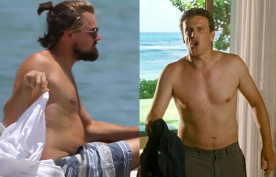 The faces of unkept masculinity. Leonarda Dicaprio and Jason Segel.