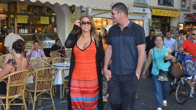James Packer and Mariah Packer snapped in Capri, Italy. An official couple according to reports.