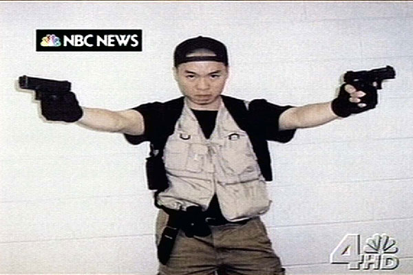 Seung-Hui Cho from the Virginia Tech shooting, as a foreign student from Korea - Mr Cho broke away from the traditional model of an American spree-killer