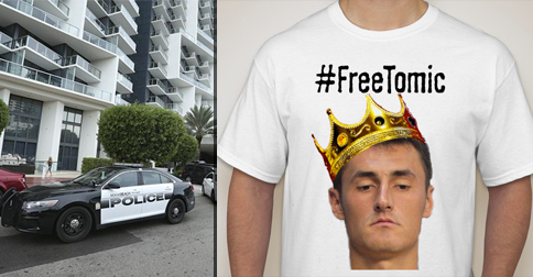 Fans Rush To Buy #FreeTomic T-Shirts After Tennis Star's Arrest, Over 20,000 Sold