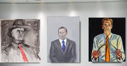 Portrait of Tony Abbott hung as Archibald finalist despite backlash