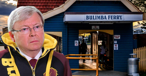 Kevin Rudd returns to his former job as Bulimba hoodrat
