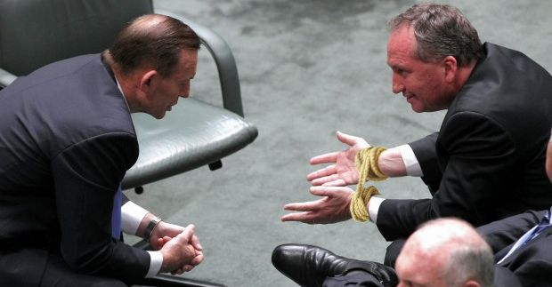 Barnaby Joyce to have hands tied for rest of political career