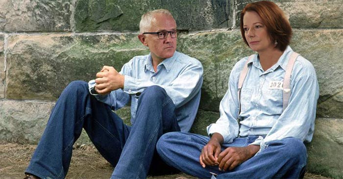 Julia Gillard mentors Malcolm Turnbull ahead of leadership showdown