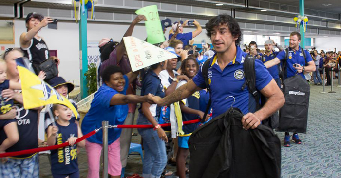 Johnathon Thurston had just enough time to change into his flying gear before the flight took off