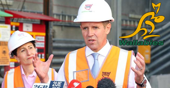Mike Baird announces $2bn M4 upgrade to cater for Wallabies bandwagon