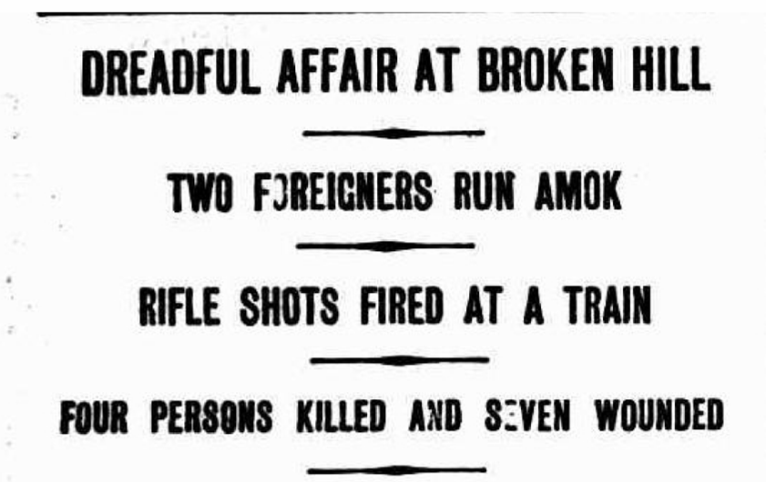 battle of broken hill newspaper
