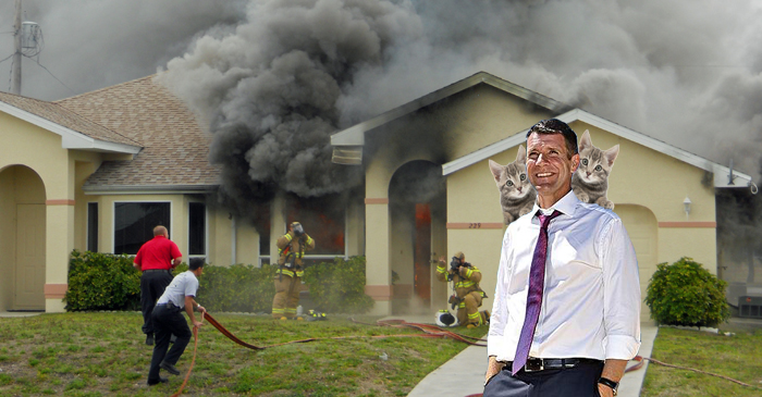 Mike Baird Leads Polls After Rescuing Adorable Kittens From House Fire