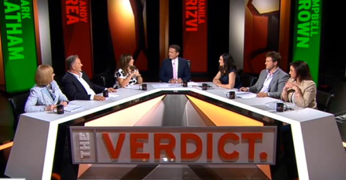 The Verdict's panel, made up of equally uneducated and outspoken Australian personalities