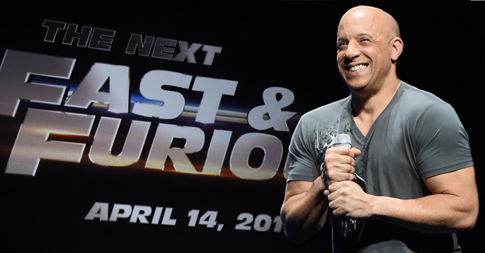 "Vin Diesel speaks to media about ""Fast 8"" at a Huffington Post press junket"