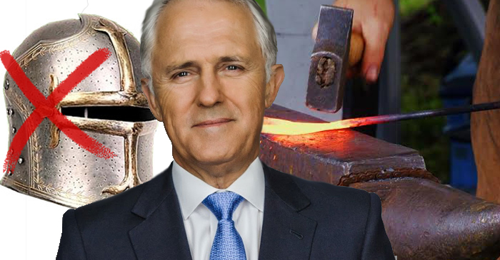 Malcolm Turnbull Deals Crippling Blow to Nation's Blacksmiths