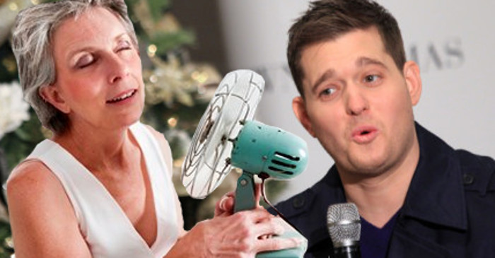 Local mum unsure if hot flushes caused by Michael Bublé or menopause