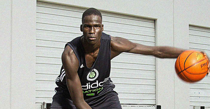 Thon Maker (18) is an Australian-Sudanese playing basketball for Canada's Athlete Institute. Despite intitially being overlooked by Australian selectors, Maker is considered a five-star recruit in North America