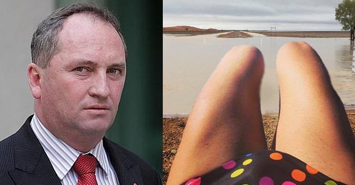 Barnaby Joyce Tweets Disturbing Selfie During Visit To Flooded QLD Channel Country