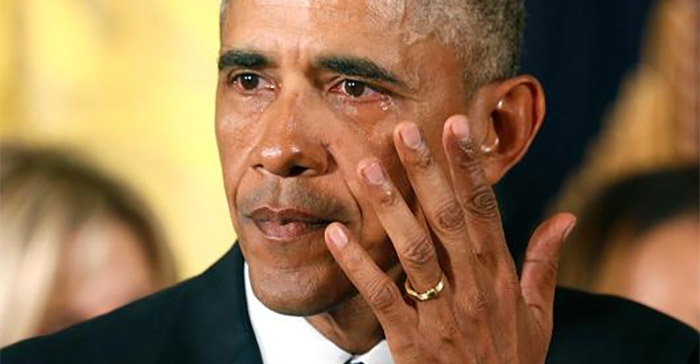 "Obama's tears are an ""attack on the great American pastime of being shot"""