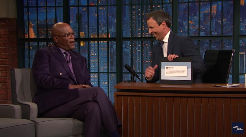"Samuel L Jackson cracks a joke about Donald Trump cheating in golf while on the Seth Meyers show. This ""harmless"" joke has resulted in Donald Trump proposing the most racist Republican policy since the Jim Crow laws."