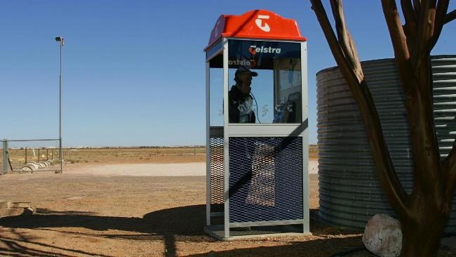 The Noccundra payphone calls the most porn hotlines per capita in Australia. PHOTO: Imran Gashkori
