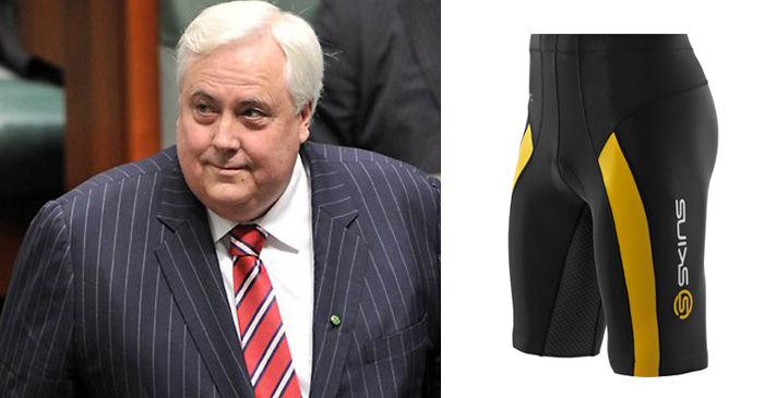Clive Palmer Admits To Wearing Lycra Activewear To Avoid Chafing Under His Suit
