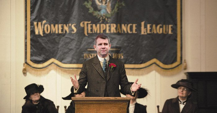 Mike Baird gives a stirring speech to the NSW Women's Temperance League last month