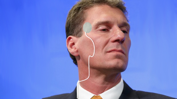 Senator Bernardi Settles In For His Nightly Corrective Shock Therapy After A Big Day In Parliament