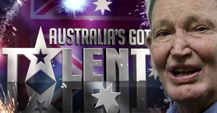 Australia's Got Talent named ironically, say producers