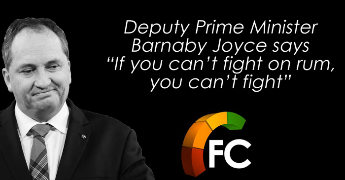 """""""If You Can't Fight On Rum, You Can't Fight"""" Says Deputy Prime Minister"""