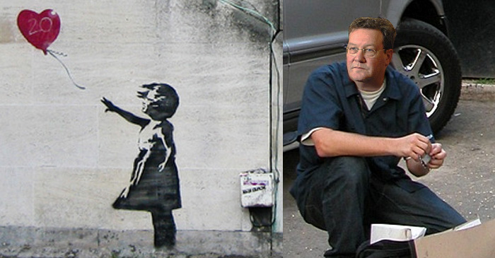 Banksy unveiled as former Howard foreign minister Alexander Downer