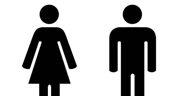 Toilet Signs Slammed For Promoting Unrealistic Body Image With Unachievable 'Box Gaps'