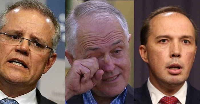 PM wishes Peter Dutton and Scott Morrison could go one day without fucking up