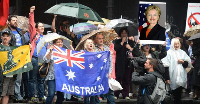 Reclaim Australia Endorses Hillary Clinton For President Of The World