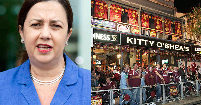 Palaszczuk Passes New Laws Restricting Volume On Pub TVs During Origin Matches