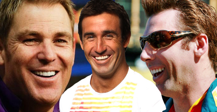 Shane Warne, Andrew Johns and Grant Hackett to film a bender for charity