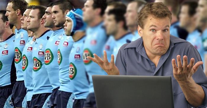 Local NSW Blues fan sees this year's team, shrugs, then puts tickets on Gumtree