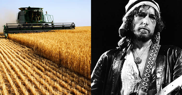 Farmer's son doesn't like Bob Dylan despite driving his header for 10 years
