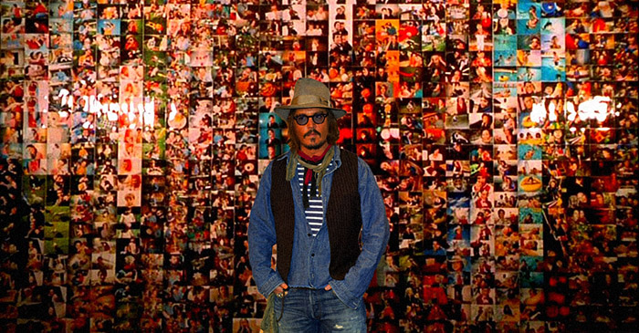 Johnny Depp spends afternoon staring at wall made entirely of Barnaby Joyce photos