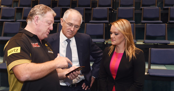 Malcolm Turnbull Forced To Watch 20 Minute Penrith Highlights Video On Gus Gould's iPhone