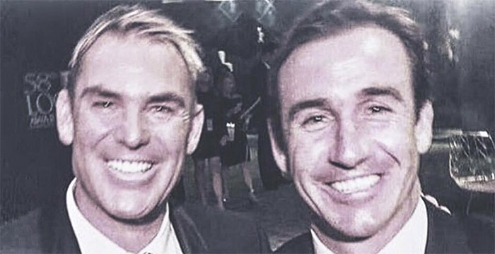 The inspiration comes after Johns and Warne met up at this year's Logies. PHOTO: Supplied.