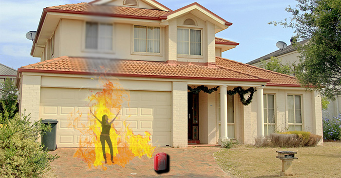 First-homebuyer protesting budget sets self on fire outside Scott Morrison's home
