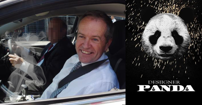 Bill Shorten Reportedly Seen Playing 'Panda' While Dutching Up ALP Range Rover