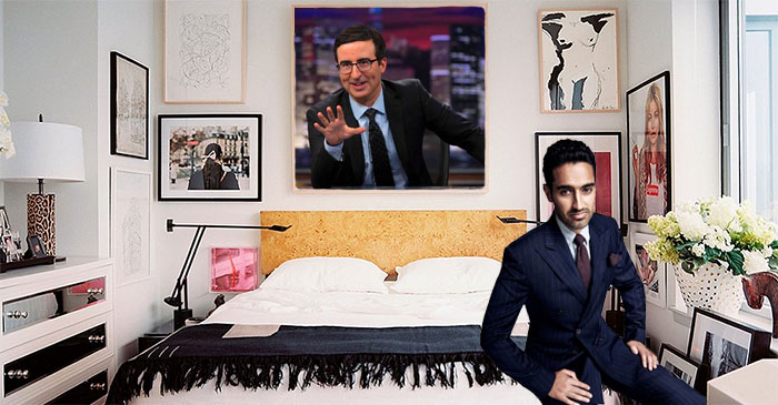 Waleed Aly hangs picture of monologue godfather John Oliver above bed