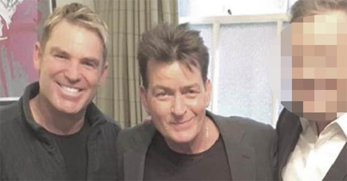 Shane Warne tells Charlie Sheen 'the best drug on Earth is taking 5 on Day 4'