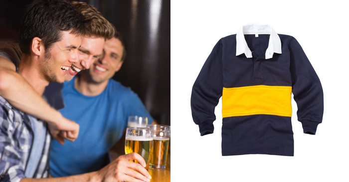 Identity Crisis Peaks As Local Man Arrives At The Pub Wearing 2008 School Rugby Jersey