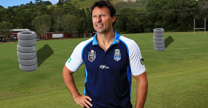 Laurie Daley Spotted Yelling Drills At Piles Of Dead Rubber In Coffs Harbour