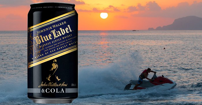 Johnny Walker targets lucrative jet ski-owners market with new Blue Label & Cola cans