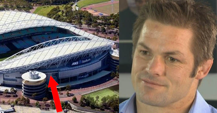 Side entrance built for Richie McCaw at ANZ Stadium ahead of Bledisloe Cup