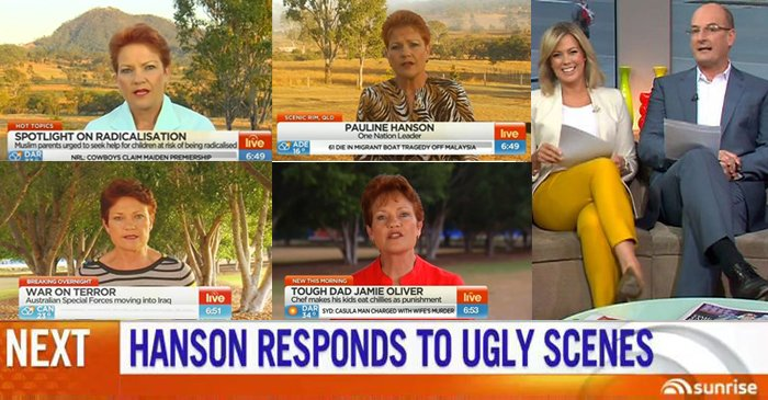 Pauline Hanson's Media Boycott Leaves Sunrise In Need Of A New Islam Expert