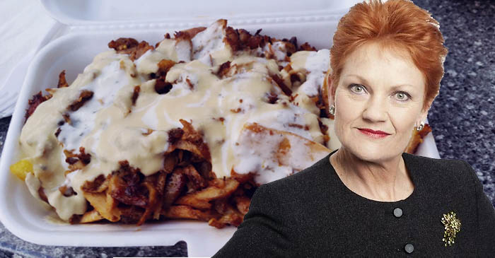 "Pauline Hanson is releasing her own ""Haram Snack Pack"" containing bacon and meth"
