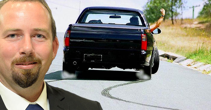 Ricky Muir reveals plans to 'hang the arse out' around a Canberra roundabout one last time