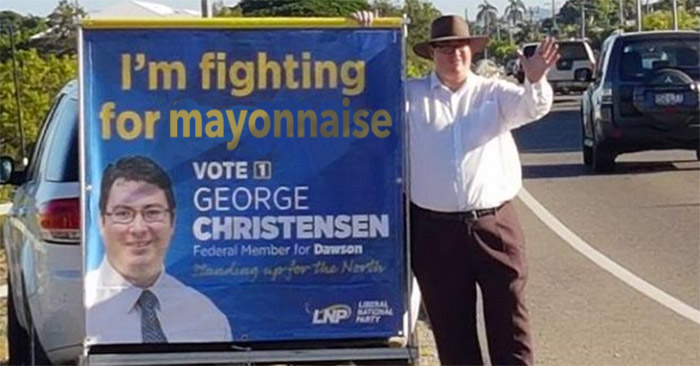 George Christensen vows to protect every Australian's right to mayonnaise