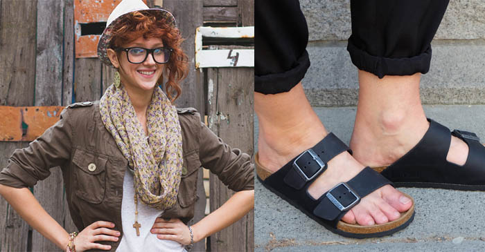 Greens campaigner regrets wearing Birkenstocks on such a cold day